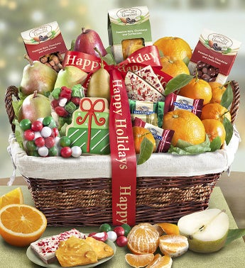 Holiday Gathering Fruit  Sweets Basket