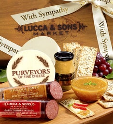 Lucca & Sons®  Sausage & Cheese Sympathy Gift Box