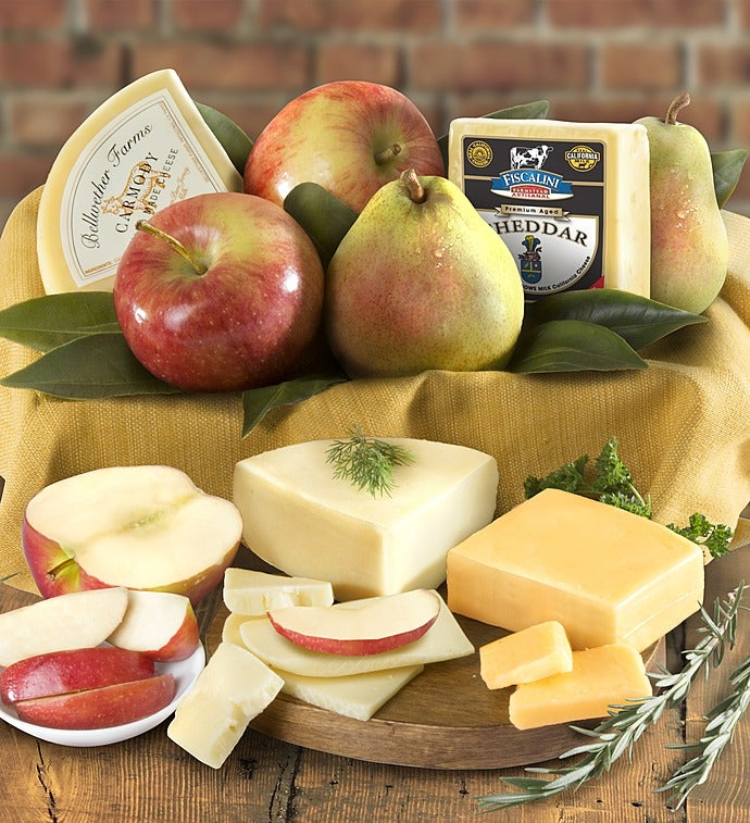 Fresh Fruit  Cheese Gourmet Basket - gluten free