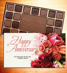 Happy Anniversary Personalized Chocolate Box