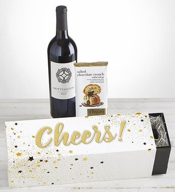 Cheers Merlot Wine  Chocolate Celebration Box