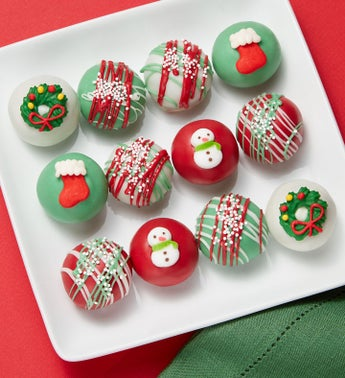 Happy Holidays Cake Truffles