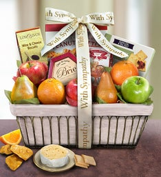 With Deepest Sympathy Fruit Basket