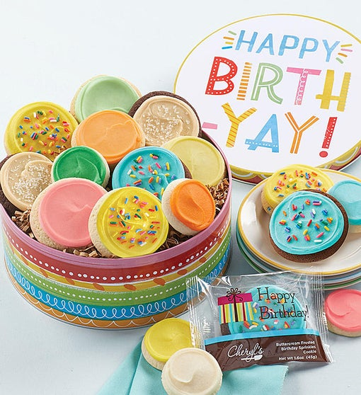 Birthday Gift Tin - Frosted Assortment