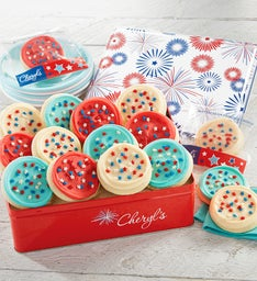 Red White and Blue Cookie Gift Tin