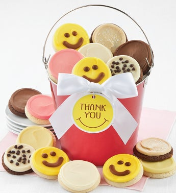 Thank You Smile Cookie Pail