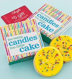 Too Many Candles Cookie Card