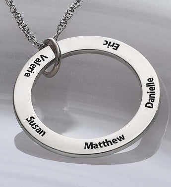 Personalized Family Circle Necklace