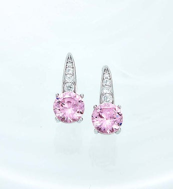 Crislu Pink Serenity Earrings