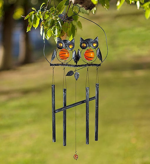 Charming Owl Windchime