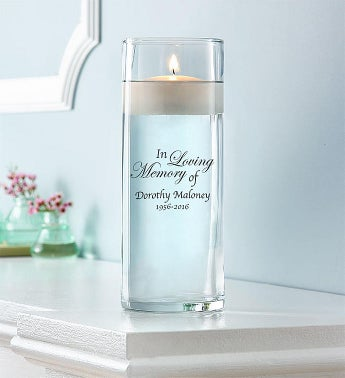 Personalized In Remembrance Floating Candle