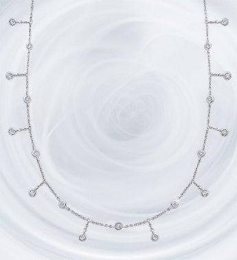 Crislu Adjustable Round Bezel Set Necklace-28