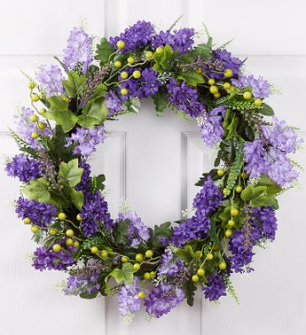 Faux Lilac Wreath-22