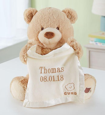 Personalized Gund Peek A Boo Bear