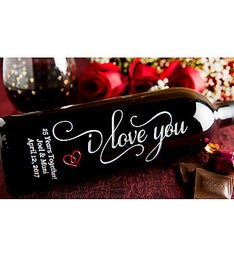 I Love You Personalized Wine Bottle