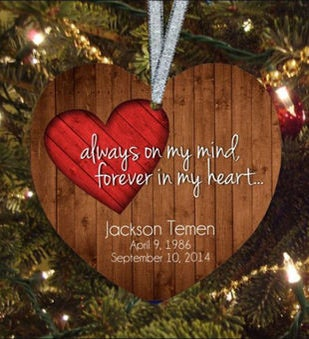 Always on My Mind Heart Ornament