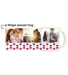 Personalized Sprouting Hearts Magic Mug