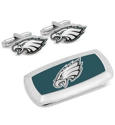 Philadelphia Eagles Cufflink  Cushion Money Clip