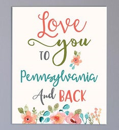 Personalized Love You To State And Back