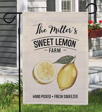 Personalized Sweet Lemon Farm Garden Flag
