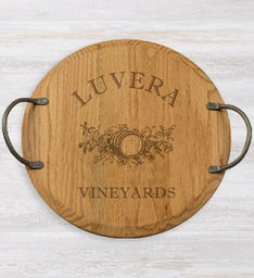 Personalized 16 Weathered Oak Server