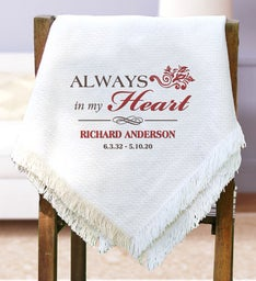 Personalized Memorial Throw Blanket