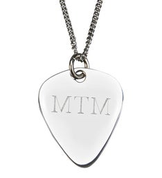 Personalized Guitar Pick Shaped Pendant