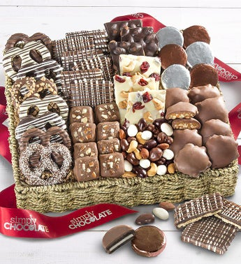 Simply Chocolate Nuts  Confections Basket