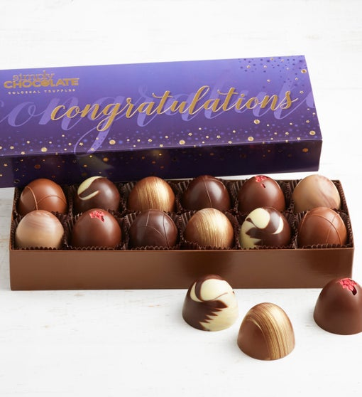 Simply Chocolate Congrats! Colossal Truffles