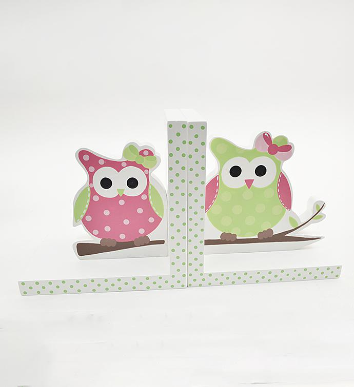 Owl Wood Bookends
