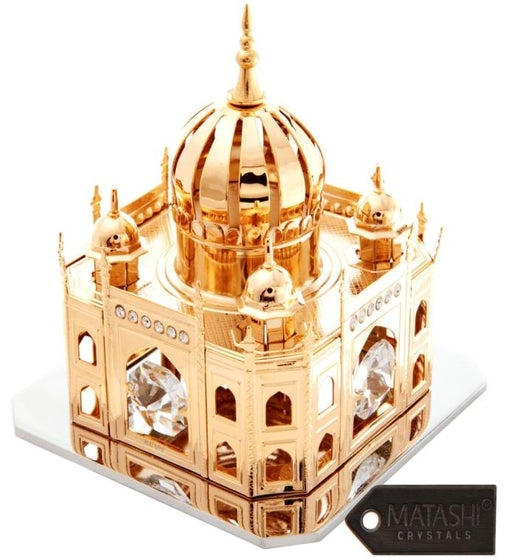 Gold Plated Crystal Studded Mosque Ornament