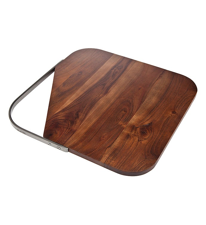 Element AcaciaSs Square ServingCutting  Board