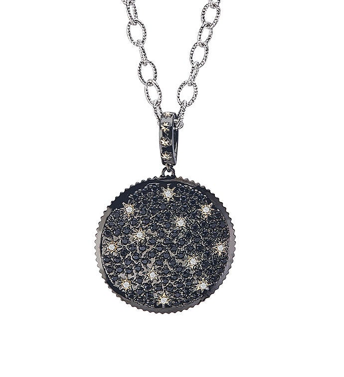 Star Gazer Reversible Pendant in Sterling Silver