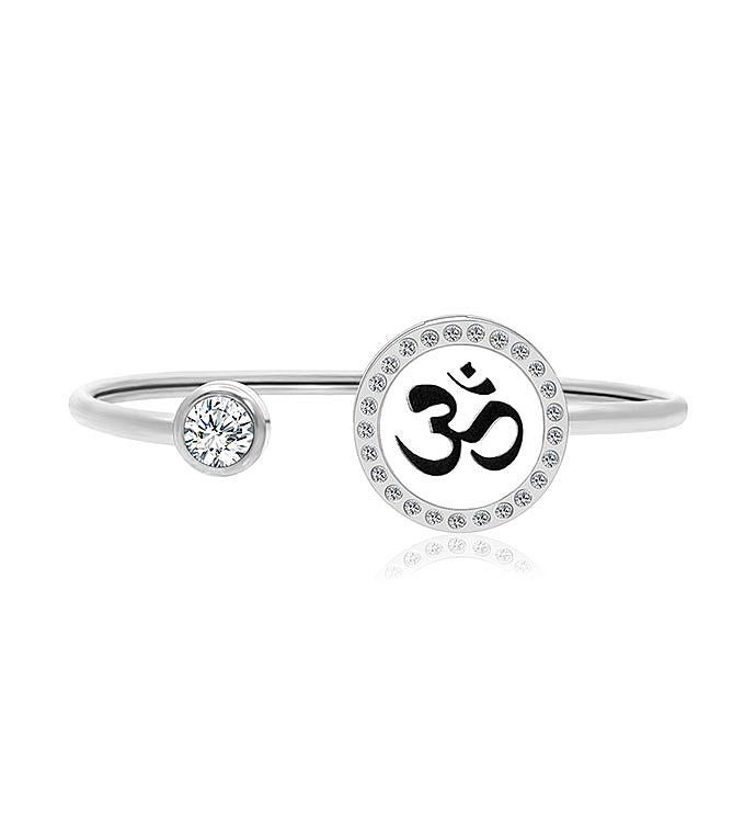 Om Sign Essential Oil Twistable Cuff Bangle