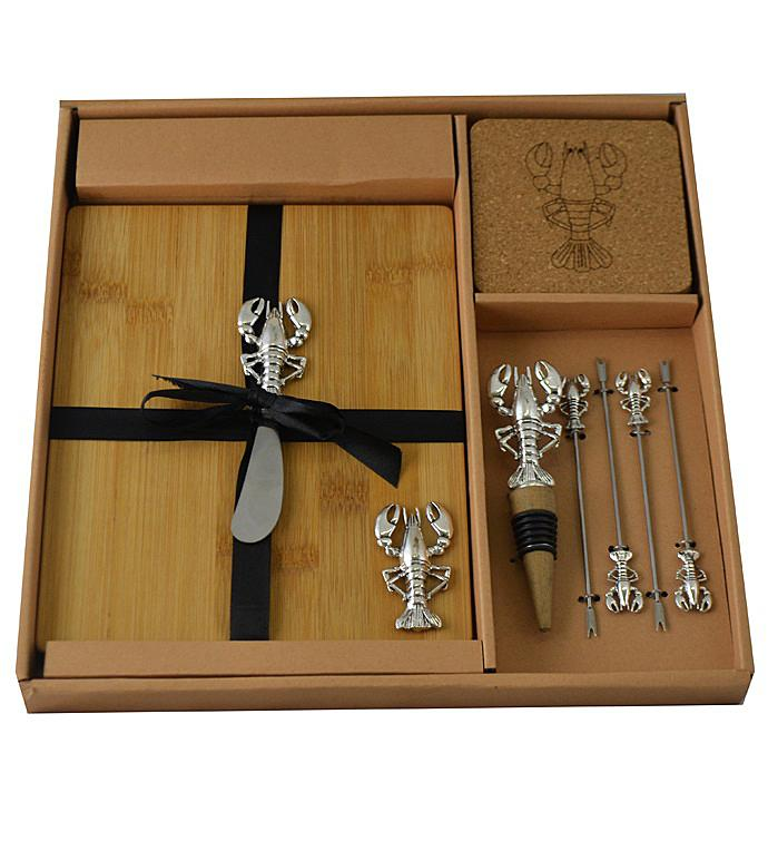 Wine  Cheese Set Silver Lobster