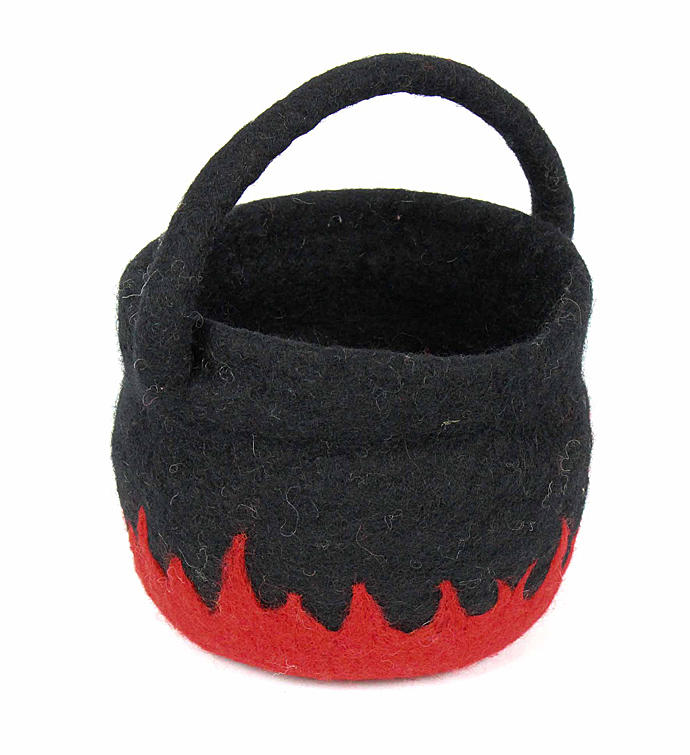 Handmade Felted Wool Cauldron