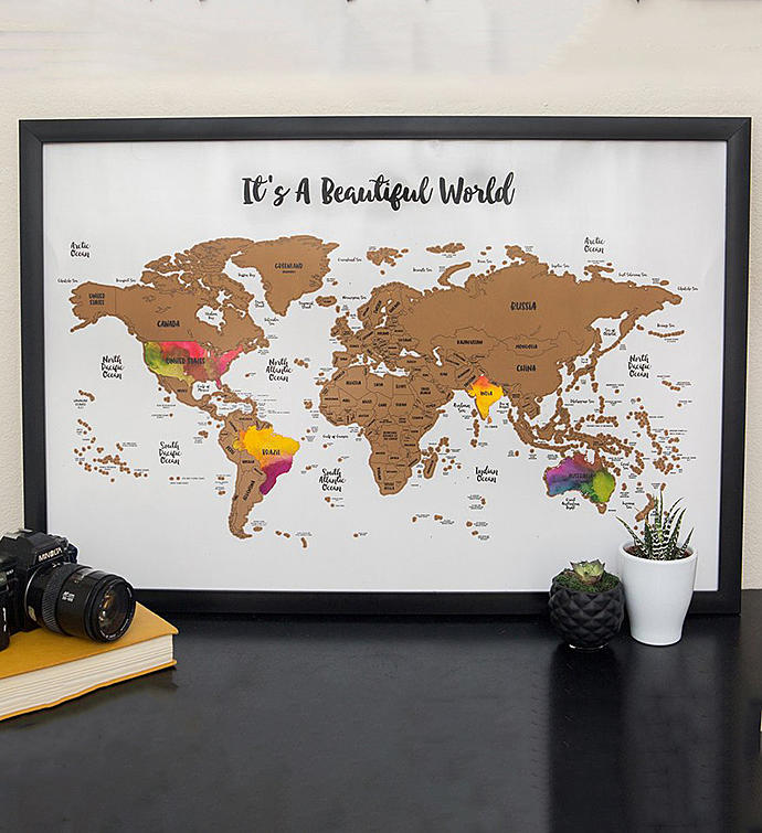 Scratch Your Travels Its A Beautiful World Map
