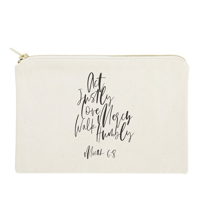 Bible Verse Makeup Bags  Travel Pouch