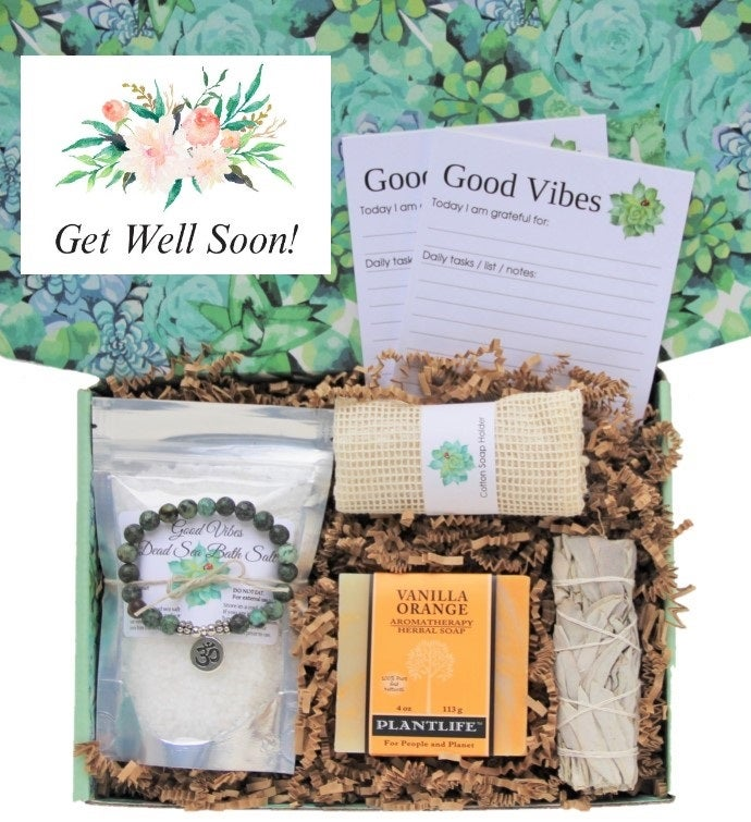 34Get Well Soon34 Good Vibes Women39s Gift Box