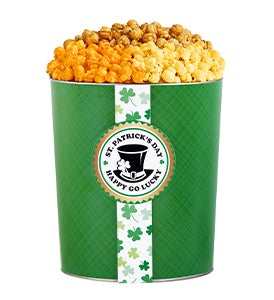 St. Patricks Day Popcorn Tins
