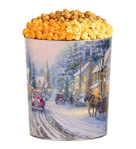 Thomas Kinkade® Holiday Village Popcorn Tins