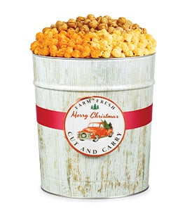 Winter Woods Truck Ornament Popcorn Tins