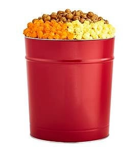 Really Red Popcorn Tins