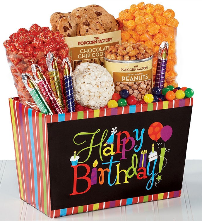 College Birthday Wishes Celebration Gift Basket