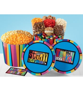 Magnet Snack Assortment & 3-Flavor Popcorn Tins