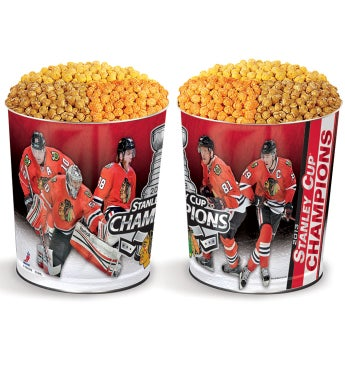 Chicago Blackhawks® Commemorative 3-Flavor Popcorn Tins