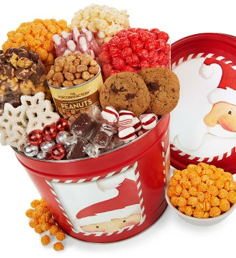 Peek-A-Boo Santa Snack Assortment