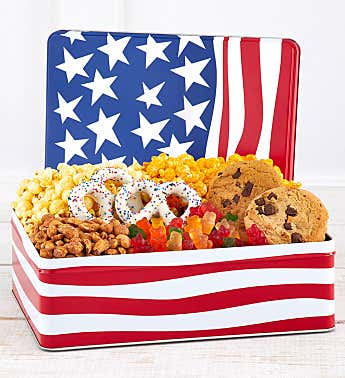 Waving Flag Gift Box Tin