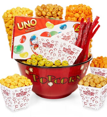 Popcorn Bowl & Snacks