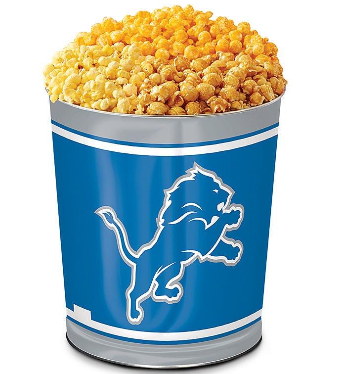 Detroit Lions 3-Flavor Popcorn Tins - 3 Gallon